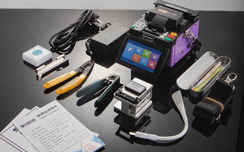 FTTH fusion splicer kit fiber cleaver